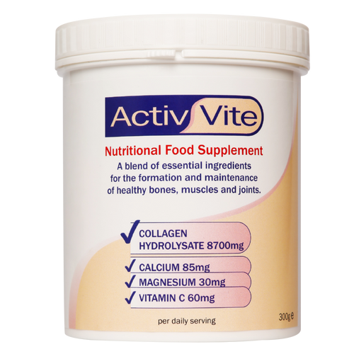 Activ Vite by Arthro Vite with collagen and calcium maintains healthy joints & bones.