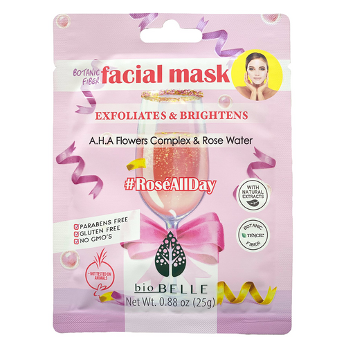 BiobelleRose All Day face mask with A.H.A Flowers Complex effectively revives the skin, gently exfoliates, unclog pores, control oil production and protects against premature ageing.
