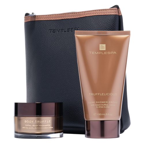 Temple Spa Truffle De Luxe is the ultimate Truffle collection for a luxury bathing & showering experience.