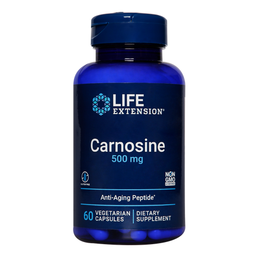 Life Extension L-Carnosine capsules help prevent sugar glycation which damages all proteins in the body.