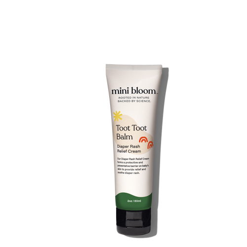Mini Bloom Toot Toot Balm is an ultra-rich nappy rash cream that instantly calms irritated skin as well as acting as an effective barrier to prevent and protect against diaper rash.