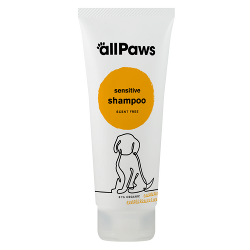 allPaws Sensitive Shampoo is an organic, cruelty-free pet grooming product from Green People.