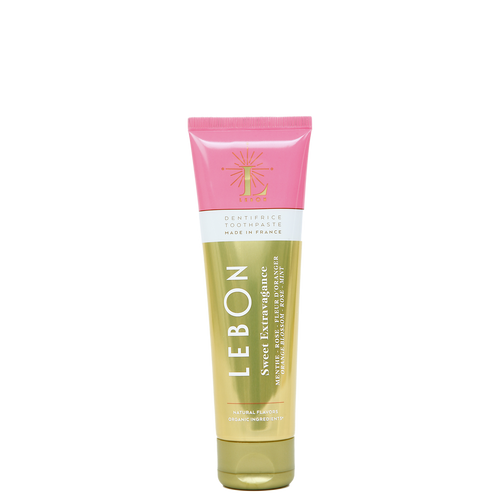 LEBON Sweet Extravagance is a Dentifrice Toothpaste with Rose, Orange Blossom and a hint of Mint.
