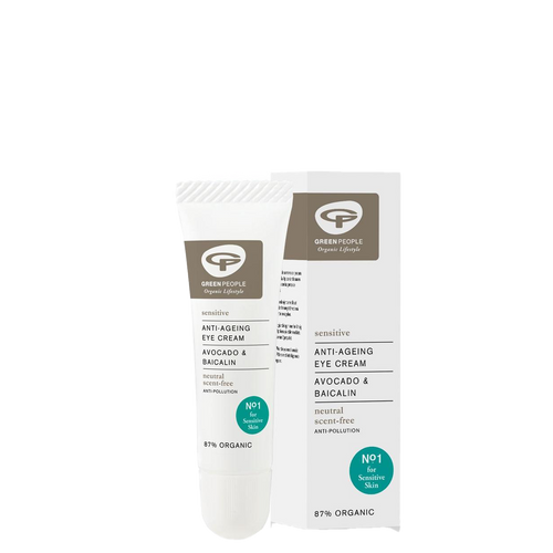 Green People Anti-Ageing Eye Cream for sensitive eyes is an ultra gentle, soothing and rejuvenating formulation containing anti-ageing Baicalin, proved to actively reduce wrinkles and fine lines.
