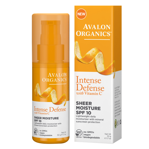 Avalon Organics Sheer Moisture SPF 10 is an antioxidant-rich day lotion that nourishes and moisturises the skin while protecting it against incidental daily UV Exposure.