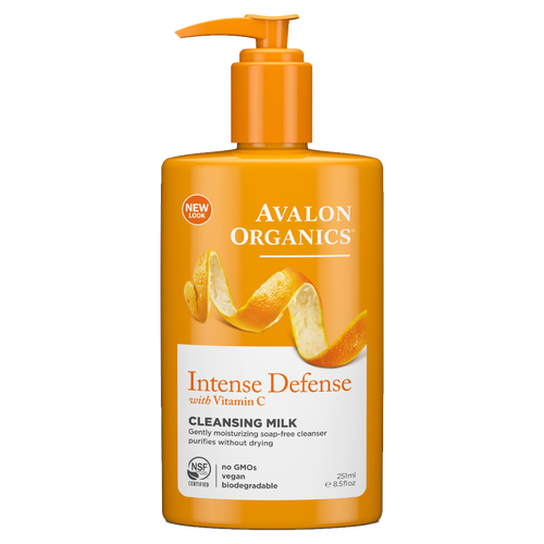 Avalon Organics Intense Defense with Vitamin C Cleansing Milk is a gently moisturising soap-free cleanser which purifies the skin without drying it out.