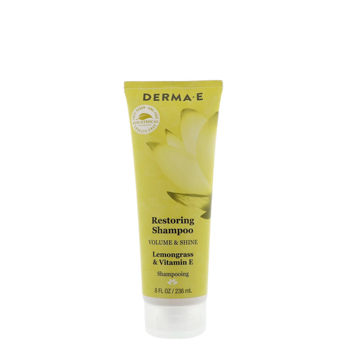 Derma E Restoring Shampoo Volume and Shine is a sulfate-free shampoo specifically formulated to strengthen and moisturise the scalp and hair follicles to leave you with luxuriously healthy hair.