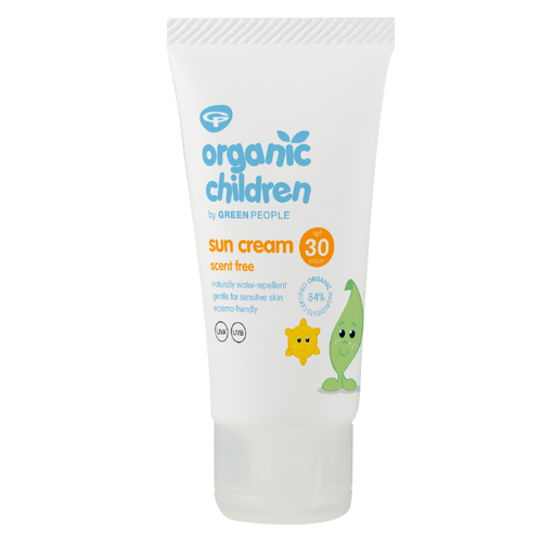 Green People Organic Children Sun Lotion SPF 30 - Travel Size is a super handy yet highly effective scent-free, natural children's sun cream that absorbs in seconds.
