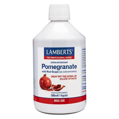 Lamberts® Health Liquid Pomegranate Concentrate is a powerful antioxidant pomegranate juiceincluding polyphenols and ellagitannins.