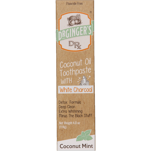 Dr. Ginger's Coconut Oil Toothpaste is made from all-natural ingredients, including pure water and coconut oil to help whiten, clean & protect teeth