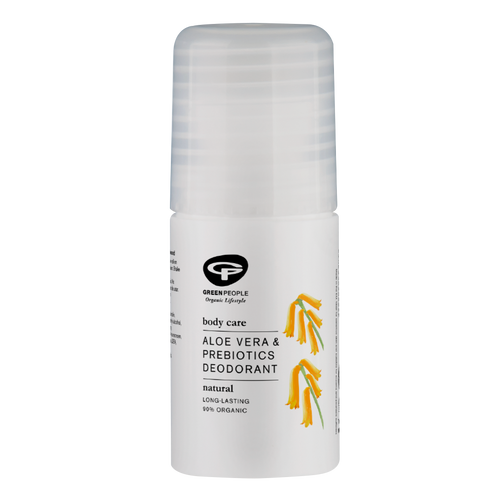 Green People Aloe Vera & Prebiotics Deodorant gently scented deodorant roll-on is an organic deodorant that offers effective and long-lasting odour control