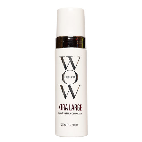 Color Wow Xtra Large Bombshell Volumizer is the ideal volumizing styling product for people prone to the appearance of flat, tired locks, as the weightless polymer works to promote bounce and gloss.