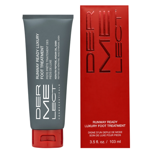 Dermelect Runway Ready Luxury Foot Treatment is the ultimate grease-free foot cream for dry, cracked feet in need of that red carpet treatment.