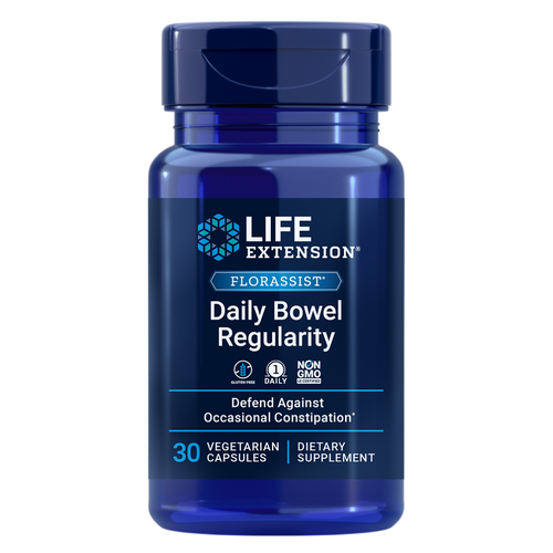 FLORASSIST® Daily Bowel Regularity contains a clinically studied probiotic strain to help support bowel regularity