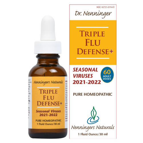 Triple Flu Defense+, for 2021-2022 flu season, is a homeopathic remedy to combat infective viruses and relieve the symptoms of flu and colds.