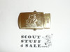 1990's Boy Scout Tiger Cub Brass Friction Belt Buckle