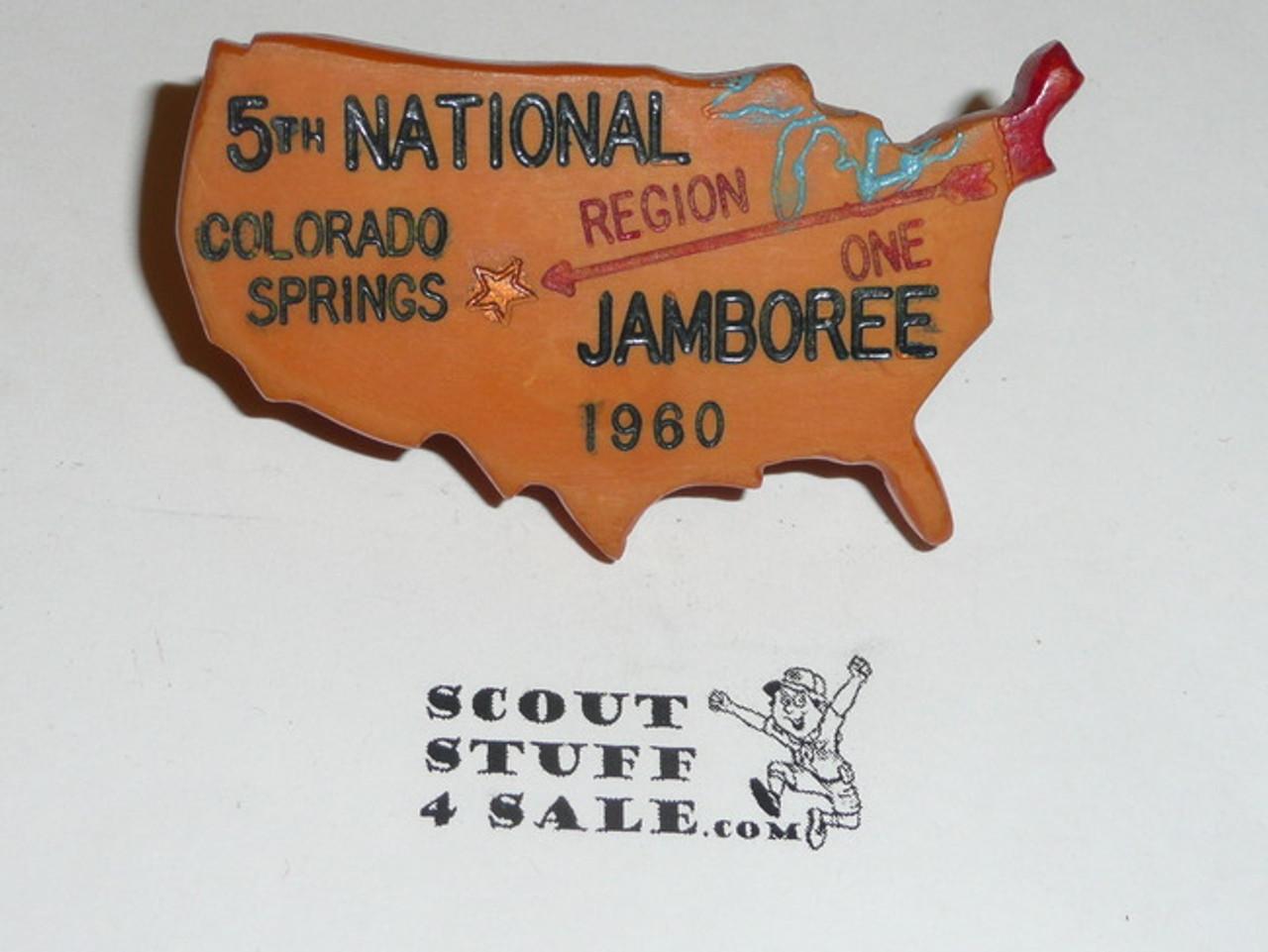 1960 National Jamboree NEAL Neckerchief Slide