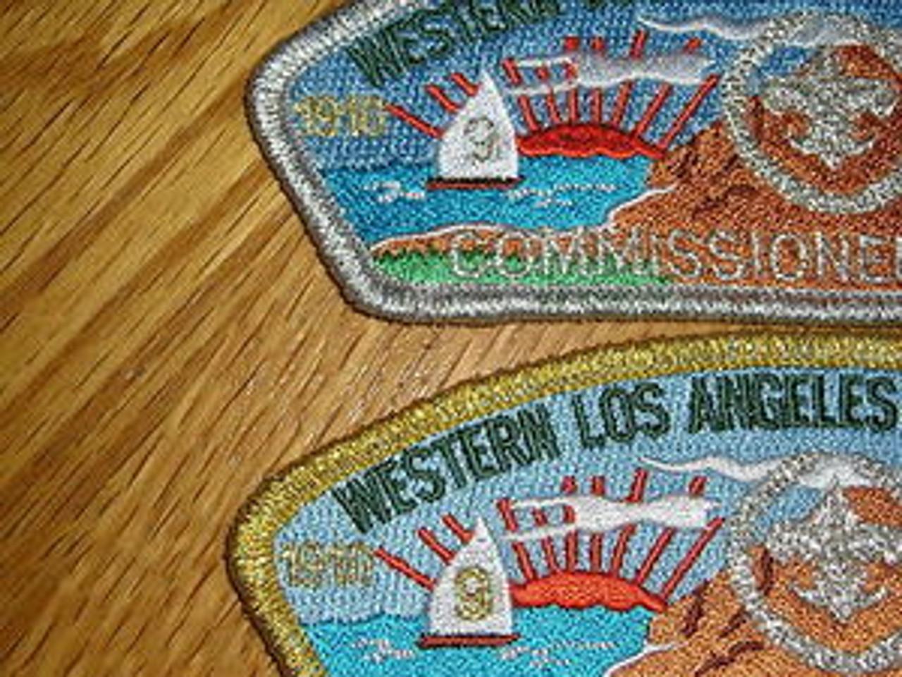 Western L.A. County Cncl sa38/sa39 COMMMISSIONER CSP 3&4, 2010 100th Anniv