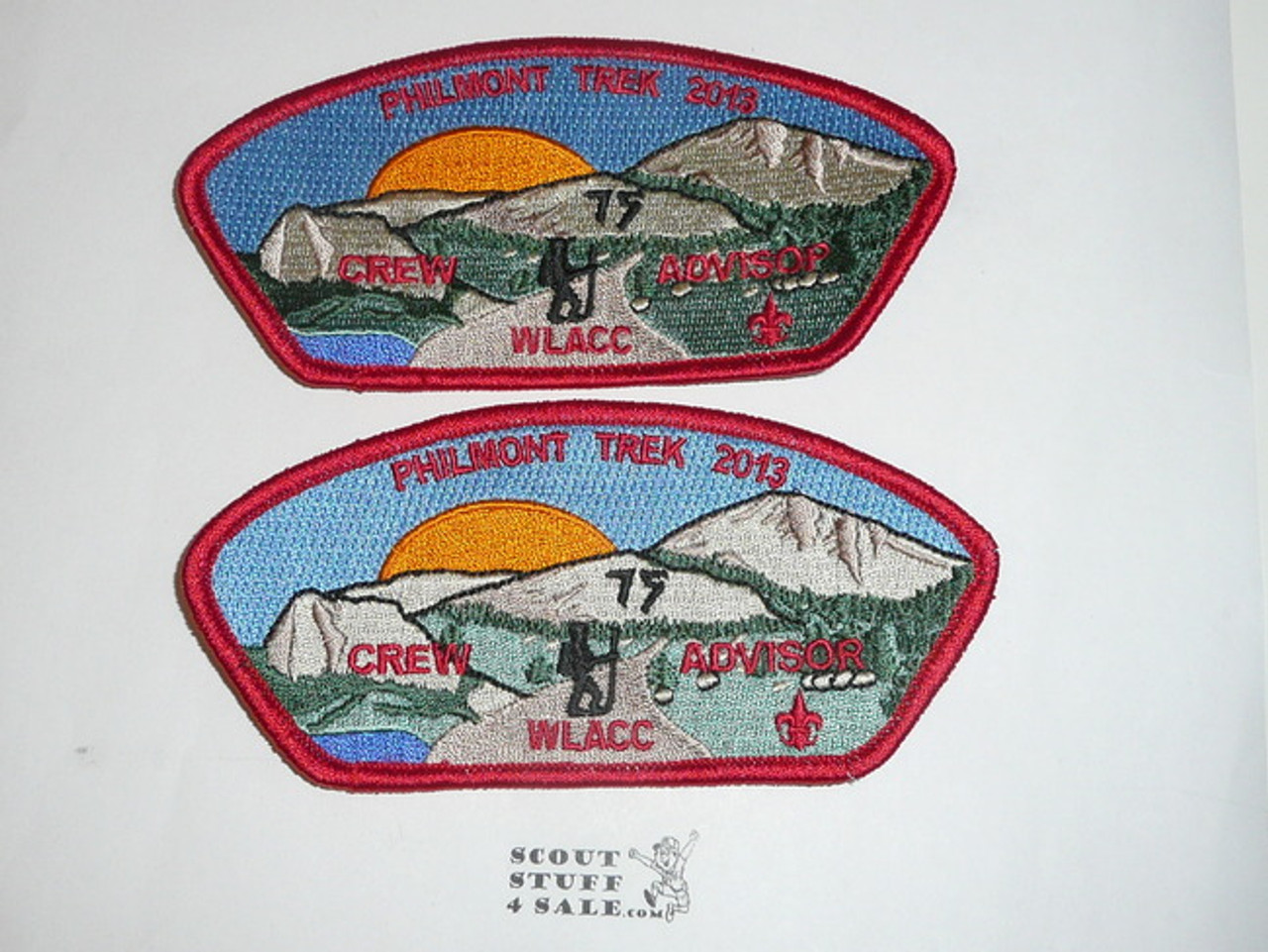 Western L.A. County Council Philmont 75th Anniv Contingent CSP Set, SA58-SA62