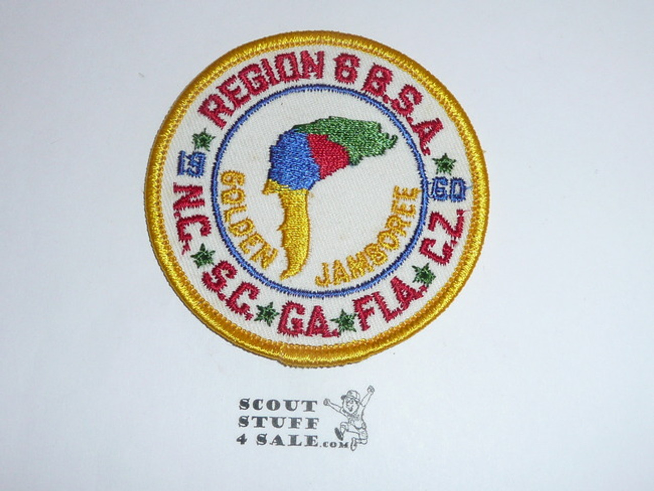 1960 National Jamboree Region 6 Patch