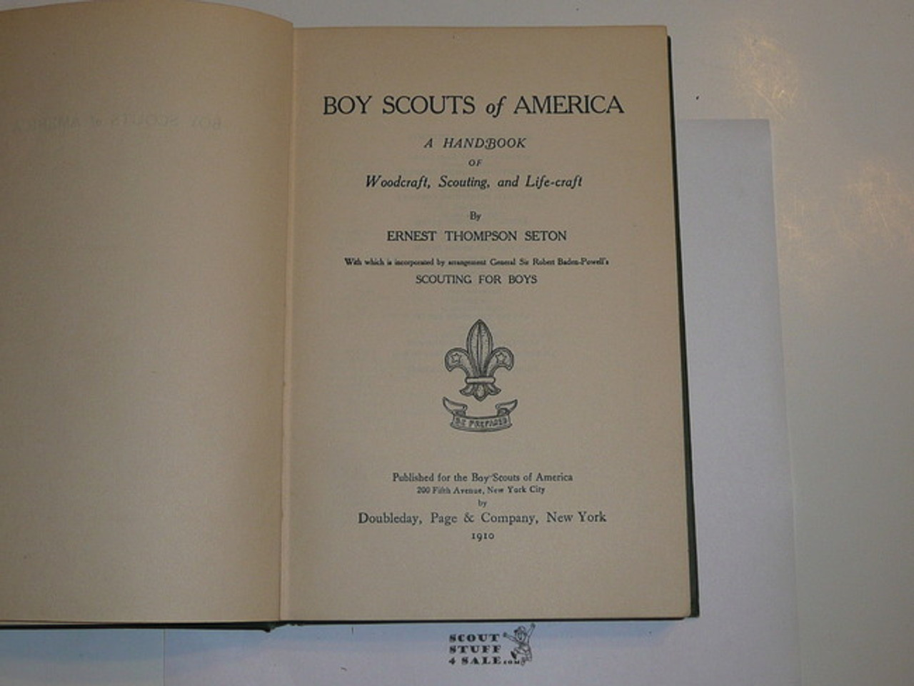 1910 Boy Scout Handbook, Original Edition, RARE CAMP FIRE EDITION, hardbound, signed by Dan Beard and E.T. Seton, WOW!!!