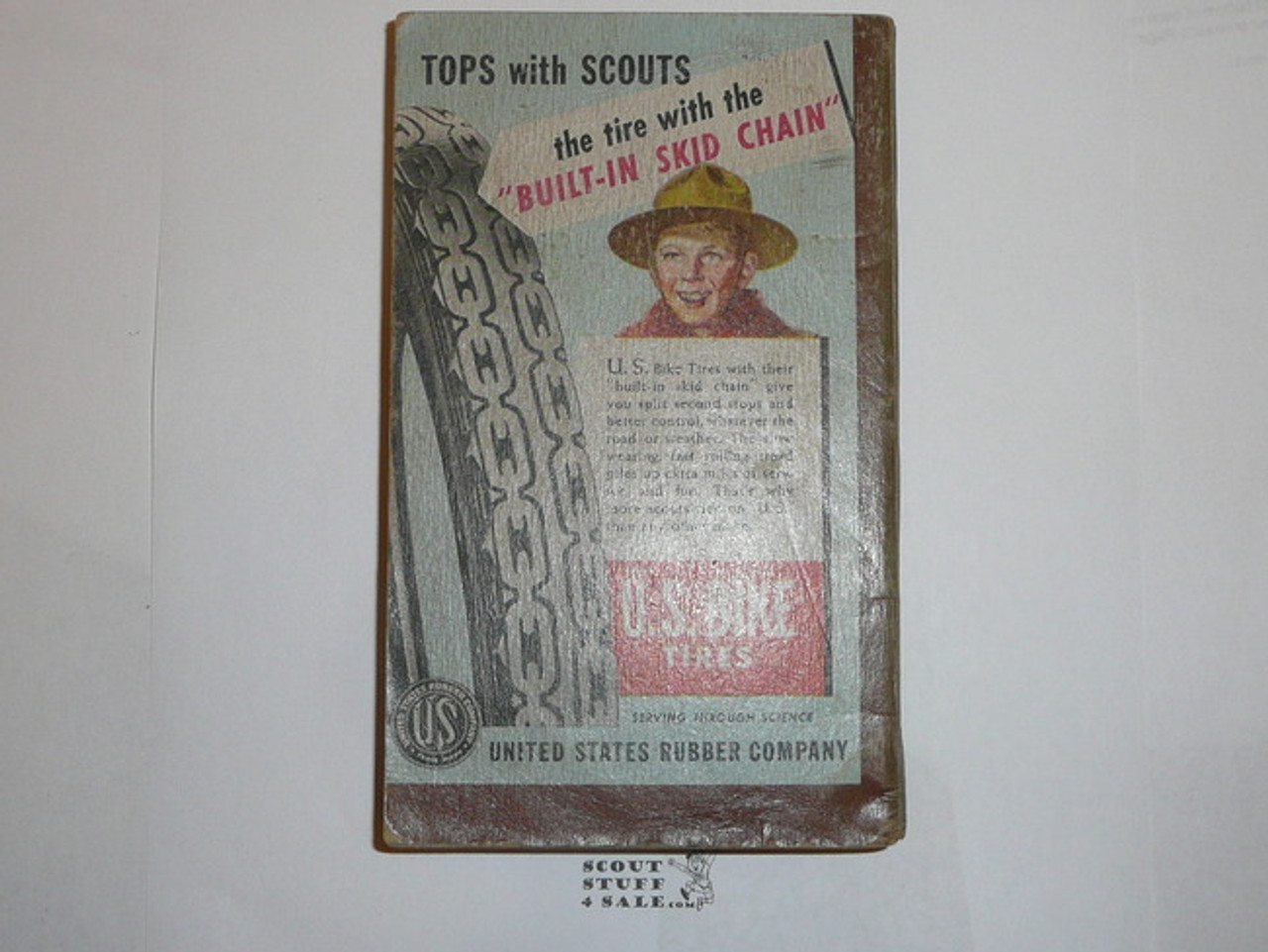 1948 Boy Scout Handbook, Fifth Edition, First Printing, Don Ross Cover Artwork, good used condition, five stars on last page