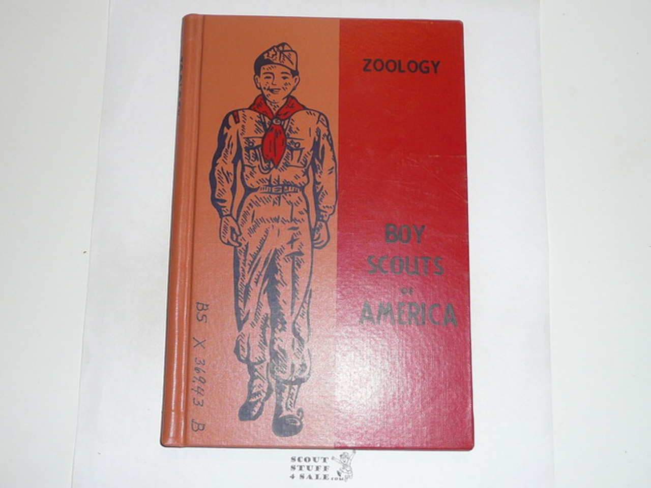 Zoology Library Bound Merit Badge Pamphlet, Type 6, Picture Top Red Bottom Cover, 5-62 Printing