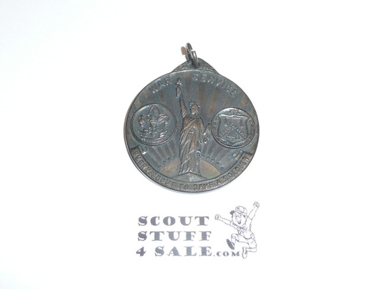WWI May 1919 Boy Scout Liberty Loan Medal, Pendant Only