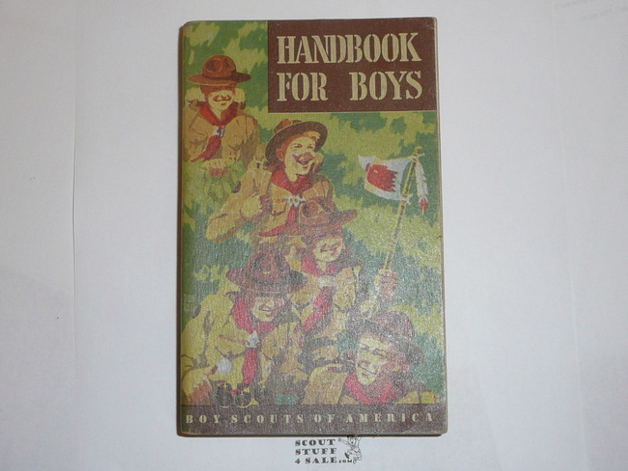 1948 Boy Scout Handbook, Fifth Edition, First Printing, Don Ross Cover Artwork, MINT condition but cover is taped at spine, eight stars on last page