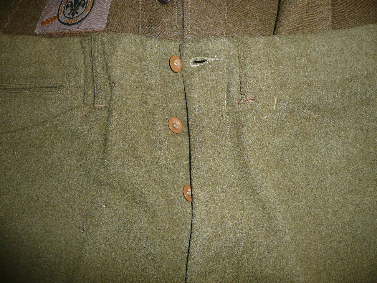 1929 World Jamboree, Special BSA Wool Uniform only used by the BSA for the 1929 WJ, with all insignia, VERY RARE