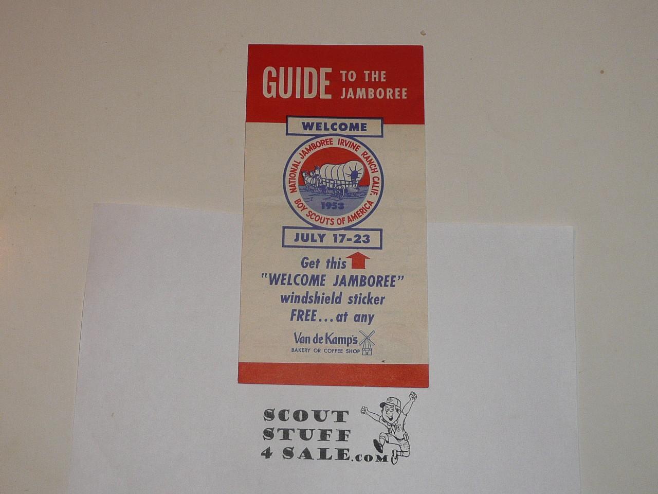 1953 National Jamboree Van de Kamps Guide to the Jamboree