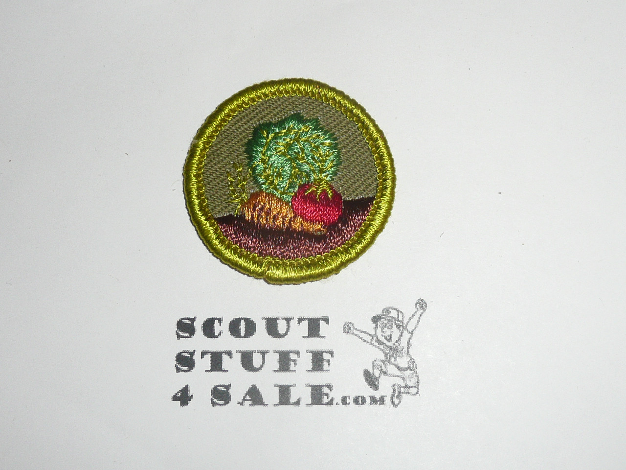 Gardening - Type F - Rolled Edge Twill Merit Badge (1961-1968)