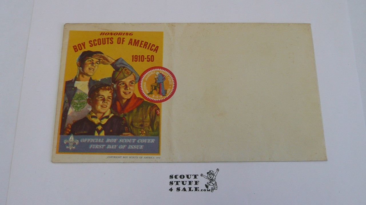 1950 National Jamboree First Day of Issue Official Envelope, unused
