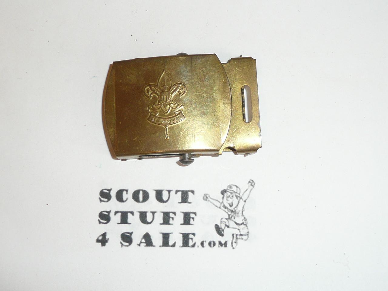 1960's Boy Scout Brass Friction Belt Buckle, unused
