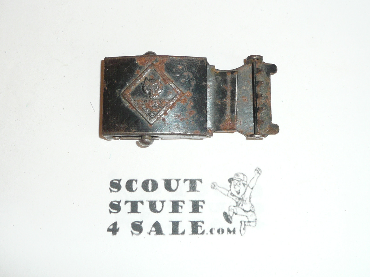 1930's Cub Scout Friction Belt Buckle, used