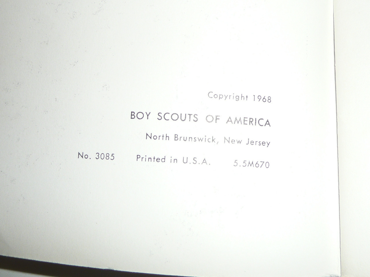 1970 School Night for Scouting Pamphlet, Boy Scouts of America, 6-70 Printing