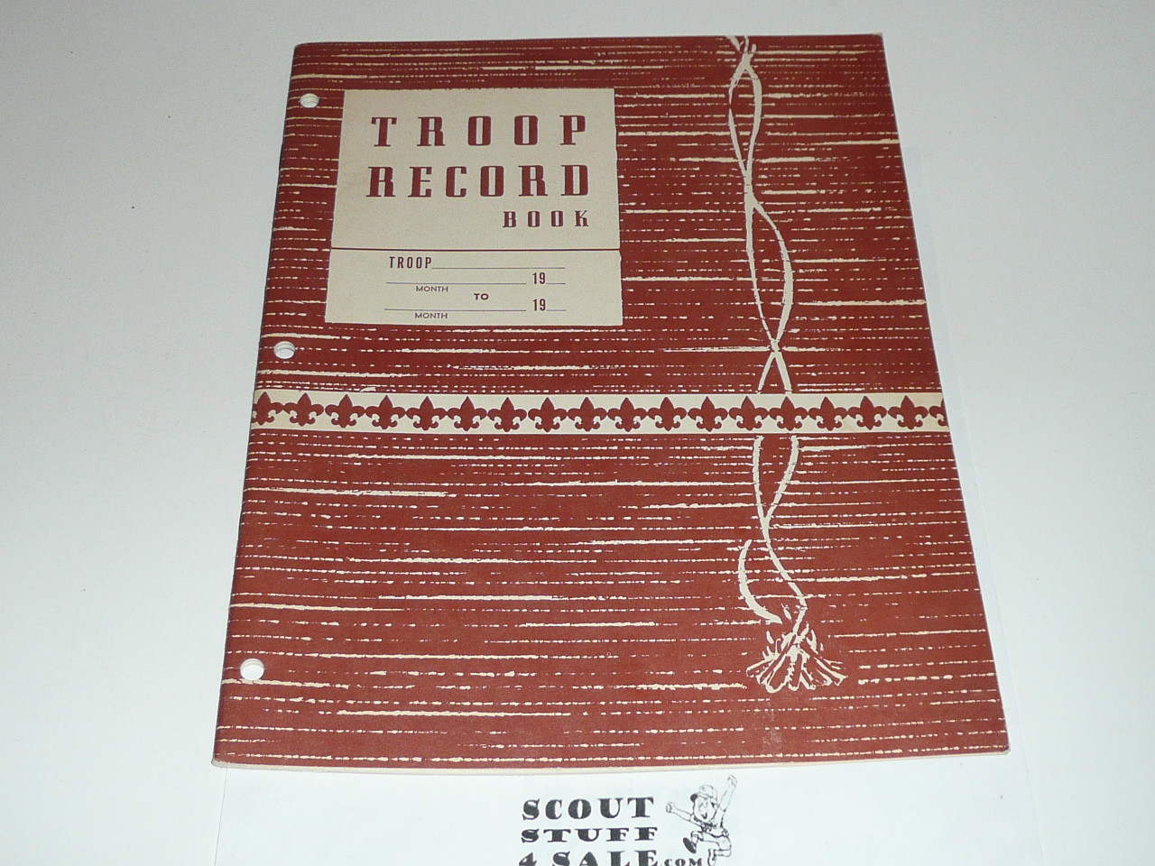 1964 Troop Record Book, Boy Scouts of America, 3-64 Printing
