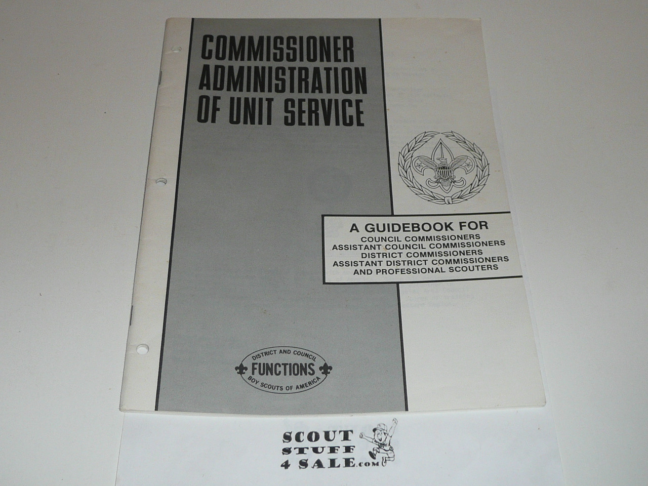 1980 Commissioner Administration of Unit  Service, Boy Scouts of America