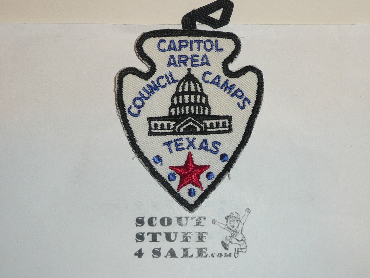 Capitol Area Council Scout Camps c/e Twill Patch, fabric loop