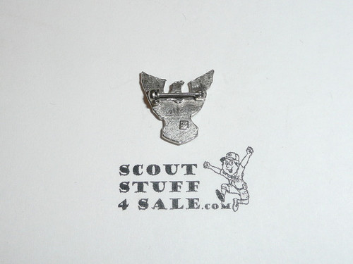 Eagle Scout Lapel Pin, 1970's STERLING Silver, Stange hallmark raised