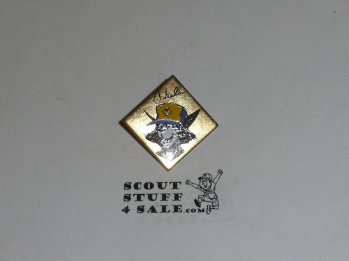 Akela Cub Scout Bin, brass finish
