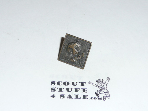 """Bear """"BEAR"""" Cub Scout Rank Pin, bronze"""