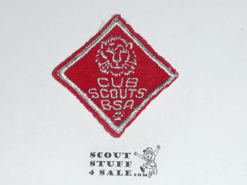 Lion Cub Scout Rank, felt, lt use