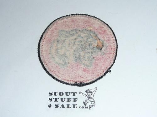 Tiger Patrol Medallion, Orange Twill with paper back, 1972-1989