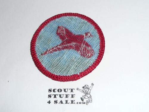 Pheasant Patrol Medallion, Olive Twill with plastic back, 1972-1989
