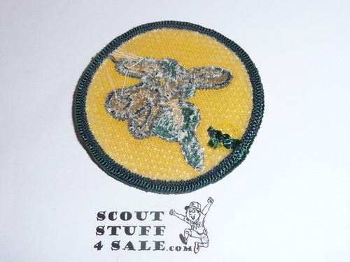 Pedro Patrol Medallion, Twill with plastic back, 1972-1989