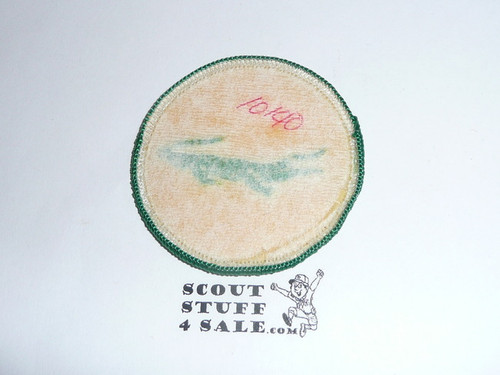 Alligator Patrol Medallion, yellow Twill with paper back, 1972-1989