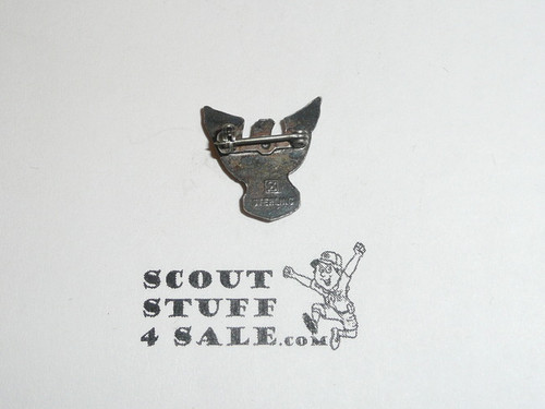 Eagle Scout Lapel Pin, 1960's STERLING Silver, Stange Sterling hallmark raised