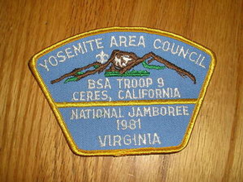 1981 National Jamboree JSP - Yosemite Area Cncl -2 Diff