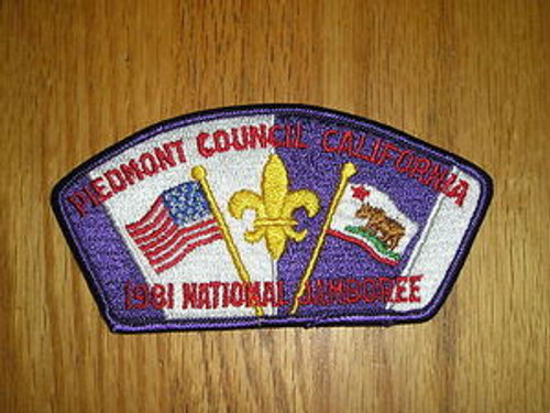 1981 National Jamboree JSP - Piedmont CA Council-2 Diff